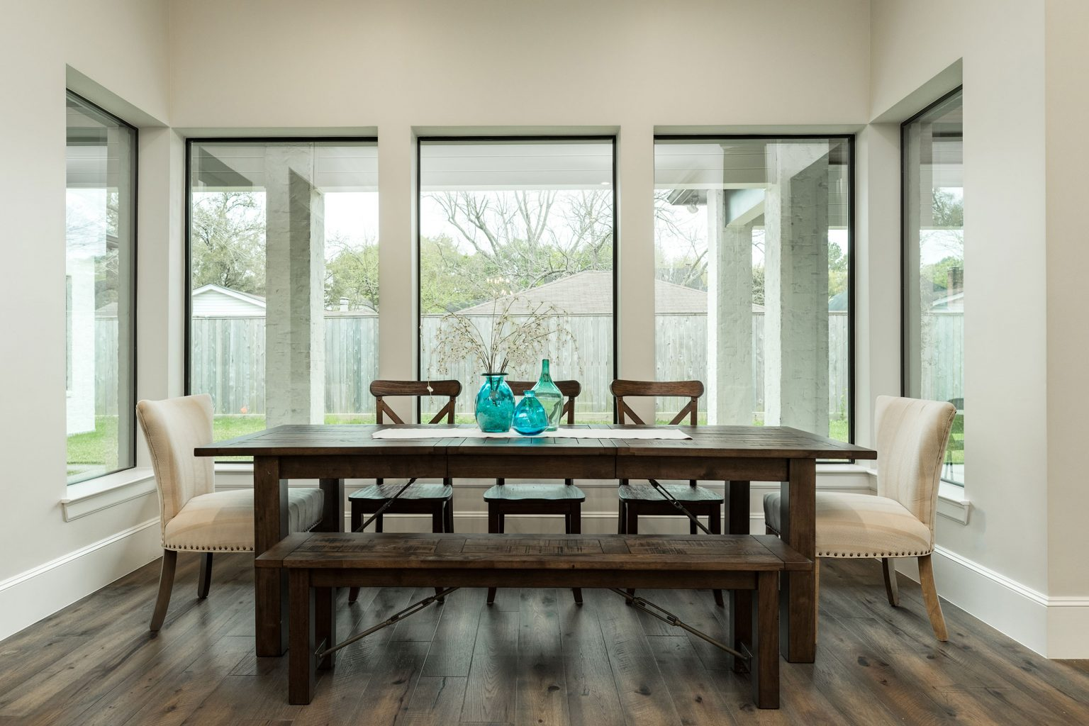 Dining room staging in Houston