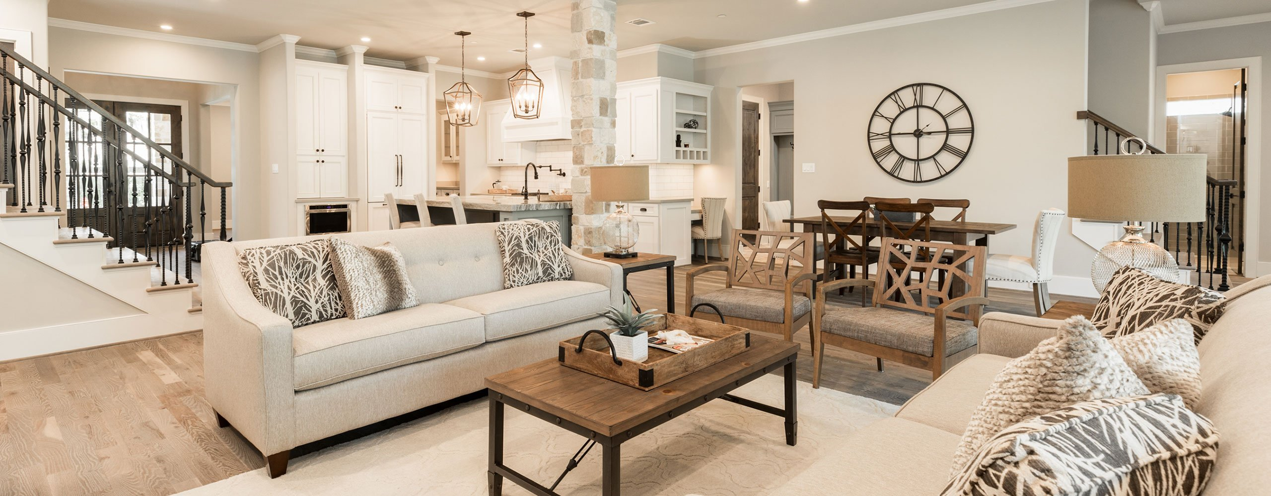 Living room staging in Houston, Texas